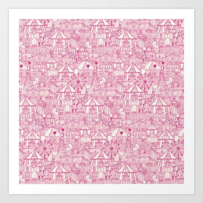 retro circus pink ivory Kunstdrucke