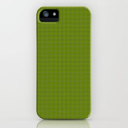 Slime Green and Black Hell Hounds Tooth Check iPhone Case