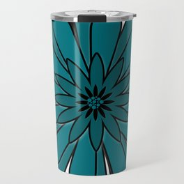 Blue flower . Travel Mug