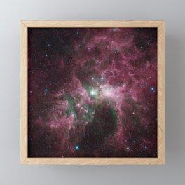 Abstract Purple Space Image Framed Mini Art Print