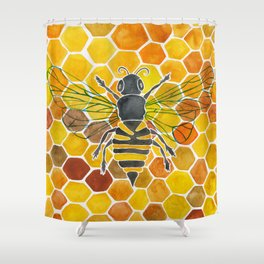 Bee & Honeycomb Shower Curtain