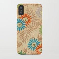 Japanese Vintage Flowers Pattern iPhone X Slim Case