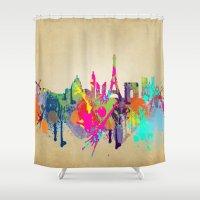 paris Shower Curtains featuring paris by mark ashkenazi