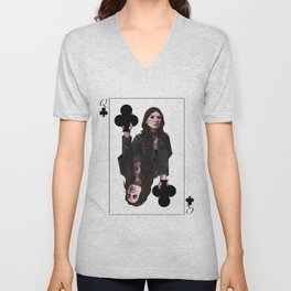 Queens of Clubs Unisex V-Neck