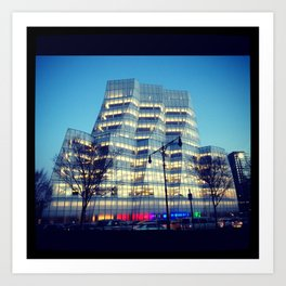Interactive Corp Building in NYC Art Print