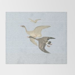 Nothing to match the flight of wild birds flying Throw Blanket