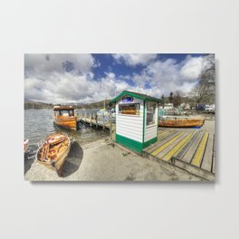 Rowing Boats at Ambleside  Metal Print