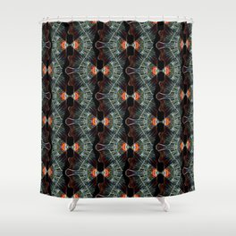Glass and Lights Kaleidoscope Scanography Shower Curtain