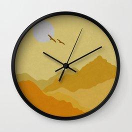 Shades of Desert Wall Clock