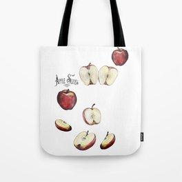 Apple Slices Tote Bag