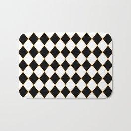 Chess board with golden threads Bath Mat
