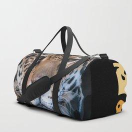 Portrait of a Leopard Duffle Bag