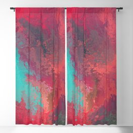 Passionate Firestorm Abstract Painting Blackout Curtain