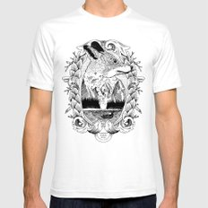 Fox White SMALL Mens Fitted Tee