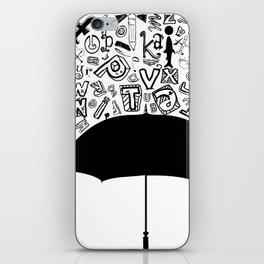Letter Rain iPhone Skin