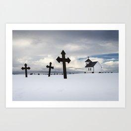 Varhaug little graveyard Art Print