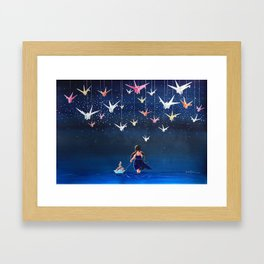 Origami Dream Framed Art Print