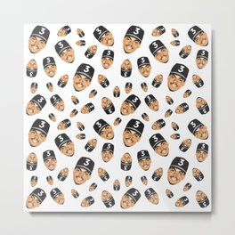 Chance The Rapper Allover Print Metal Print