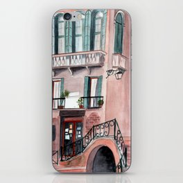 Italy coffee shop watercolor iPhone Skin