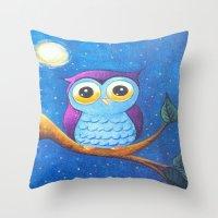 charmaine olivia Throw Pillows featuring Olivia by Talisha