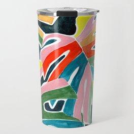 Monstera leaves acrylic Travel Mug