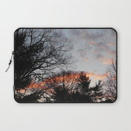 red clouds in the sky Laptop Sleeve