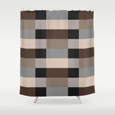 IKEA STOCKHOLM Rug Pattern - chequered, brown Shower Curtain