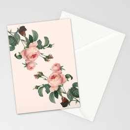 Butterflies in the Rose Garden Stationery Cards