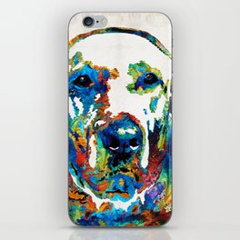 Labrador Retriever Art - Play With Me - By Sharon Cummings iPhone Skin