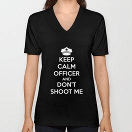 Keep Calm Officer Unisex V-Neck