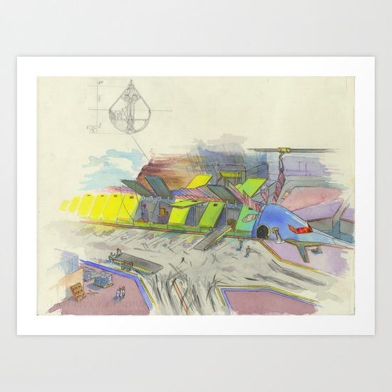 Seaport Art Print