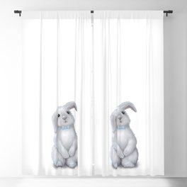 White Rabbit Boy isolated Blackout Curtain