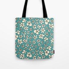 garland flowers blue Tote Bag