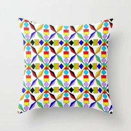 symetric patterns 56 -mandala,geometric,rosace,harmony,star,symmetry Throw Pillow