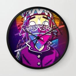 Demon  wear mask Wall Clock