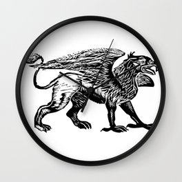 Gryphon-Black Wall Clock