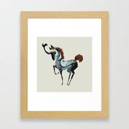 Tiny Unicorn (3 of 3) Framed Art Print