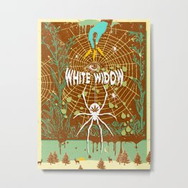 WHITE WIDOW Metal Print