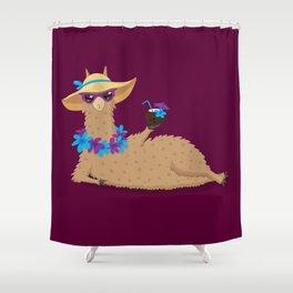 Bahama Llama Shower Curtain