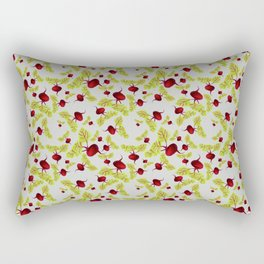 Graying Beauty and the Beets Rectangular Pillow