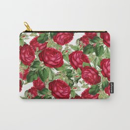 Crimson Rose Bower Carry-All Pouch