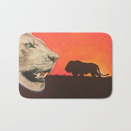 Lion Love Bath Mat