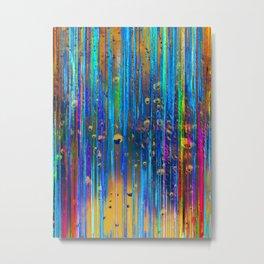 Colored Rain Metal Print