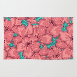 Seamless Floral Ornamental Pattern Rug