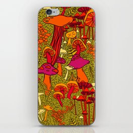 Mushrooms in the Forest iPhone Skin