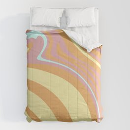 Sunny and Bright Paint-Pour Comforters