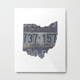 Vintage Ohio Metal Print