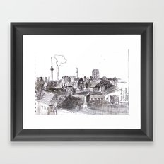 Foggy Berlin Framed Art Print