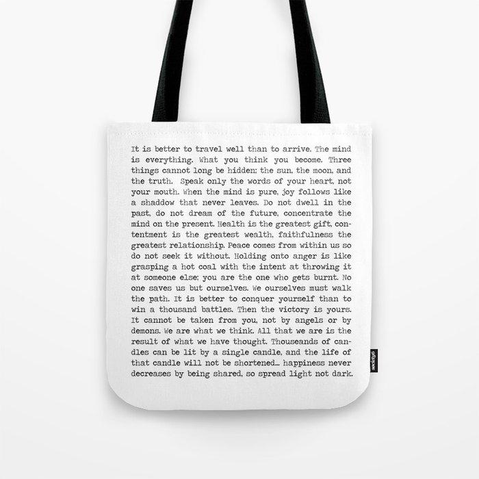 The Wisdom of Buddha Tote Bag