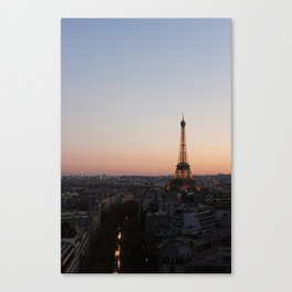 Eiffel Tower During Sunset Canvas Print
